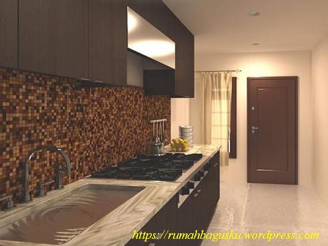 desain interior dapur kecil minimalist ukuran 1 9 3 8 m