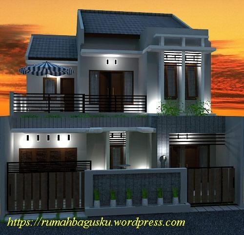 desain fasad rumah 2 lantai modern tropis rumahbagusku